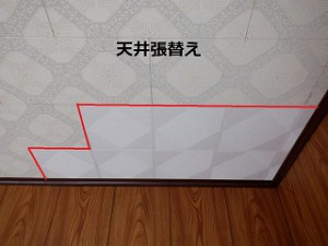 天井板の張替え