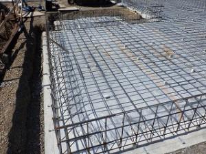 平屋建て新築住宅の基礎工事