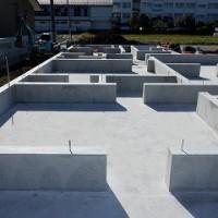 平屋建て新築住宅基礎工事