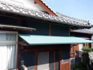 庇屋根の張替え