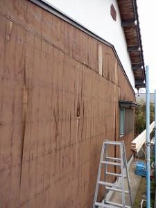 焼杉板の張替え工事