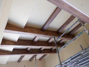 平屋建て新築住宅のLDK勾配天井