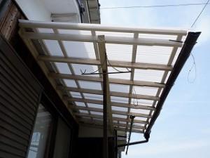 テラス屋根波板張替え