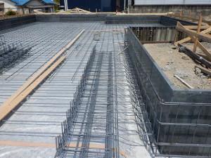 木造平屋建て住宅基礎工事