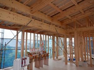平屋建て新築住宅の上棟日