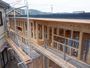 平屋建て住宅 愛媛県県内産木材検査