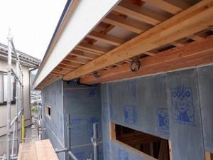 新築工事外壁面・耐震・防火