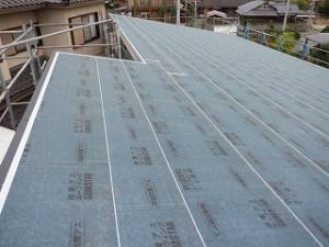 新築工事外壁面・屋根面