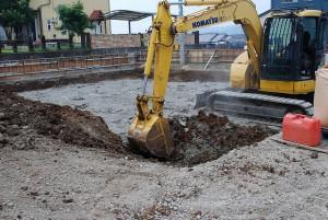 新築敷地造成工事