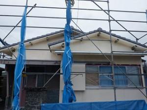 屋根瓦の葺き替え・外壁塗装工事